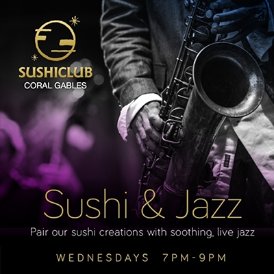 Jazz & Sushi Promotion Pair our sushi creations with soothing, live jazz