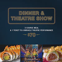 Dinner & Theatre Package 3 Course Meal & 1 ticket to a Miracle Theatre Performance