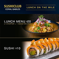 Promotion Lunch Menu 20$ Sushi 10$